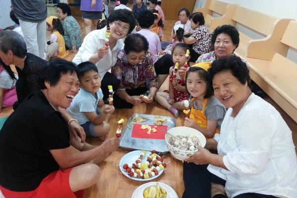 노인교실&어린이 요리수업 2