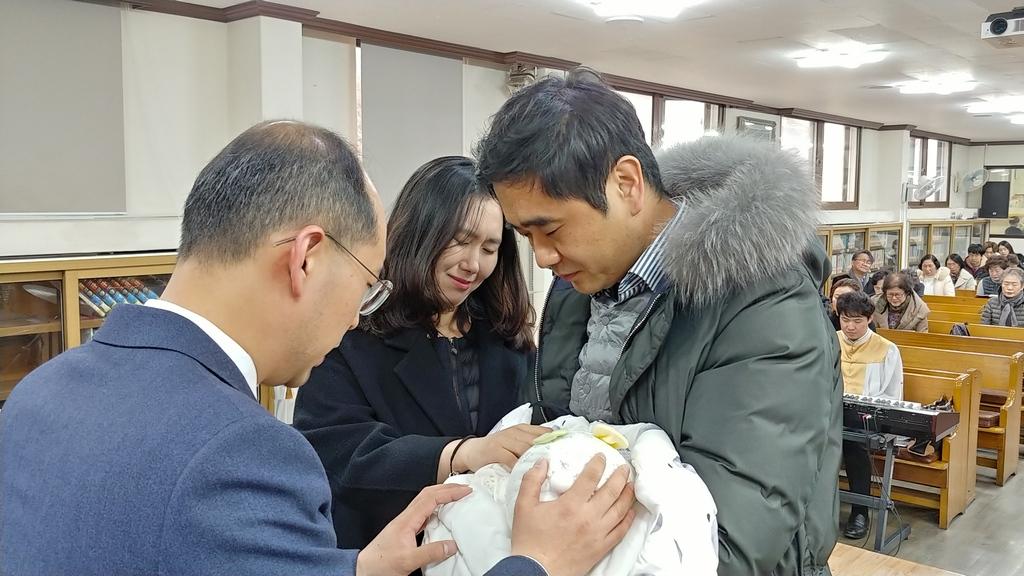 김지섭-구혜선 집사님 아들 김연수 첫 출석