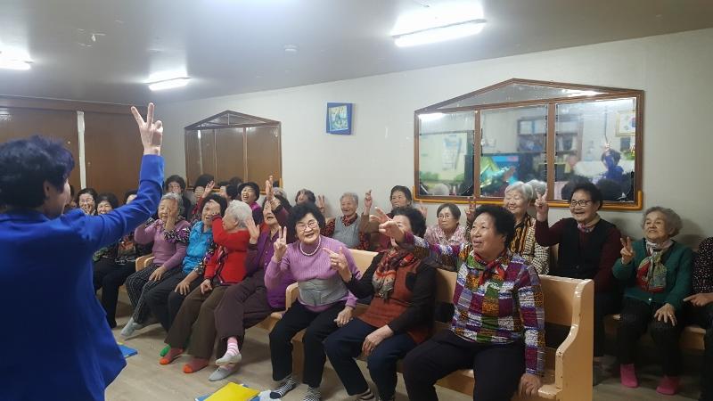 2019년 3월 노인교실(노래교실 -강사 강원자)